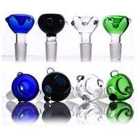 Denk glazen kom voor glazen bongen groothandel multi kleuren adiabatische aanraakpunt glazen kommen 14mm verbinding voor waterpijp gebruik voor booreiland