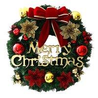 Decoración del árbol de Navidad Corona creativa colorida de la fiesta fiesta de la familia decoración de la pared Puntales de vacaciones Ambiente guirnalda de la decoración VT1740