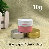 10g vuoto barattolo in alluminio oro argento bianco rosa 10ml labbra balsamo contenitore crema crema di lozione campione da viaggio piccolo bottiglia spedizione gratuita qualità vitali