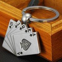 Poker Casino Kette Farbe Anhänger für Mann Frauen Geschenk Design Cool Luxus Metal Keychain Auto Schlüsselanhänger Schlüsselanhänger