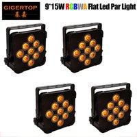 Sıcak Satış LED Düz Par 9x15W Aydınlatma LED Par Işık Strobe DMX Denetleyici Parti Dj Disco Bar Strobe Karartma Etkisi Projektör