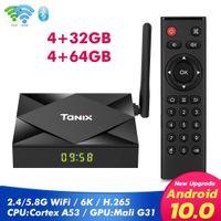TANIX TX6S الروبوت 10.0 OTT صناديق TV 4GB + 32GB / 64GB ALLWINNER H616 مزدوجة واي فاي 2.4G + 5G مع BT الذكية التلفزيون صندوق
