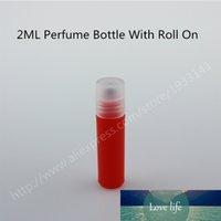 Sıcak satış 10pcs / uçucu yağlar için şişeler üzerindeki plastik rulo 2ml sürü roll-on doldurulabilir parfüm şişesi