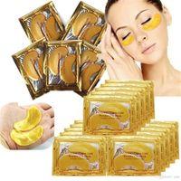 Nouveau Collagen Crystal Eye Masques anti-poolus Hydratant Masques d'oeil Hydratant Masques anti-âge Collagen Gold Powder Powder Masque DHL Expédition