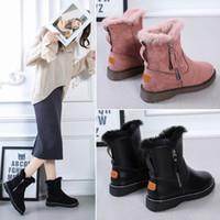 2020 new ladies casual fashion plush black pink casual shoes 35----40
