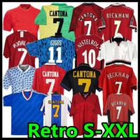 97 98 레트로 유나이티드 축구 유니폼 2002 축구 남자 Giggs Scholes Beckham Ronaldo Cantona Solskjaer Manchester 94 96 99 86 88 1990 06 07 08