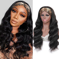 Meetu Long Length Wig 28 30inch Body Human Hair Wigs With Headbands Straight Water Loose Deep None Lace Headband Wigs For Women All Ages Natural Color