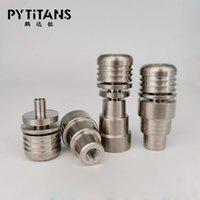 2015 Neue 5-Loch 4 in 1 Domeless Titanium Nägel 14mm 19mmFemale und Male Joint für Glaspfeife Bong