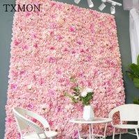 TXMON Hohe Qualität 45 * 65 cm Seide Rose Künstliche Blume Hochzeitsdekoration Blume Wand Romantisch Für Hochzeit Hintergrund Dekoration1
