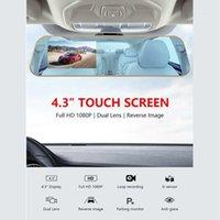 Full HD 1080p Touchscreen Auto DVR Duale Kameras Rückseite Spiegel Nachtsicht Dash Cam DVR Digital Video Recorder1