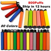 일회용 vape 800 퍼프 스타터 키트 550mAh 배터리 vape 펜 3.2ml 카트 80 색 기화기 vapes 전자 담배 업그레이드 바 플러스 빈