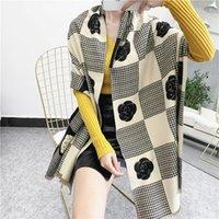 2021 Lüks Kış Kaşmir Eşarp Pashmina Kadınlar Için Marka Tasarımcılar Sıcak Eşarp Moda Kadınlar Taklit Kaşmir Yün Uzun Şal Wrap