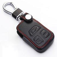 Coque clé en cuir véritable pour Volvo C70 S40 S70 S90 V40 V90 Smart Remote Couverture FOB Couverture Porte-clés Sac ACCESSOIRES AUTO