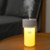 Creative Air Humidificateur USB Cool Cool Brume Diffuseur d'eau avec changement de couleur Lumière LED 250ML Mini TIRE Ultrasonic Humidificador1