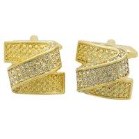Vintage Kol Düğmesi erkekler için takı gömlek kol düğmeleri manşet düğmeleri altın renk manşet bağlantı yüksek kalite desen düğün takı