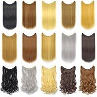 60см / 100г волосы производители занавеса оптовый горячего stylechemical волокно лески волосы занавес прямого hairseamless волосы удлинитель