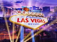 Las Vegas City Night Lights Vinyle Photographie Backdrops Enfants Anniversaire Photo Booth Fonds pour Voyage studio Props