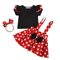 INS 0- 4Y dots baby girls suits girls outfits short sleeve T ...