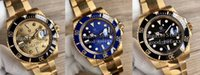 Top Mens Watch VR Factory Automatyczne ETA 2836 Zegarki ruchu owinięte 18k Yellow Gold Diamond Men Data 116618 Luminous Crystal Wristwatches