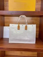 2021 Sac à bandoulière portatif de luxe de luxe Lady Gauche Linge et coton Vertical Shopping Sac Tote Sac d'expédition Haute Qualité Mode A3