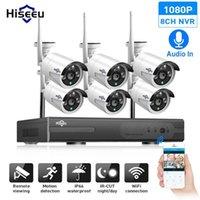 Hiseeu 8CH CCTV نظام كاميرا لاسلكية 6 قطع 1080 وعاء wifi ip كاميرا في الهواء الطلق الأمن المنزلية نظام مراقبة الفيديو NVR كيت 1