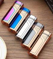 방풍 다채로운 USB 순환이 DHL 흡연 ARC 라이터 휴대용 혁신적인 디자인 칼 허브 담배 담배 시가 충전 쿨
