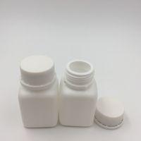 100 قطع 30cc 30 ملليلتر hdpe ساحة أبيض البلاستيك حبة زجاجة 1 أوقية الطب البلاستيك حبة حاوية للمبالغسولات، فيتامين، أقراص