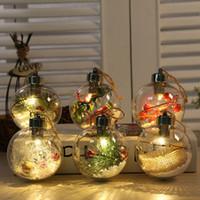 2020 новый пластик светящийся прозрачный Рождественский бал творческий мультфильм Рождественский бал кулон украшение сферическая кулон украшение