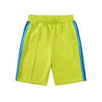 2020 Casual mens Praia Shorts das mulheres designer de calças curtas roupas carta impressão do arco-íris tira cinto ocasional de cinco pontos VG5655
