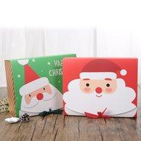 Jul Eve Stor Presentförpackning Santa Papercard Kraft Present Party Favor Candy Box Röd och Grön Party Favor T2i51659