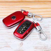 원격 스마트 자동차 키 FOB 케이스 프로텍터 커버 쉘 홀더 Keychain 가방 상자 딱딱한 Ch-R Prius 액세서리 아연 합금