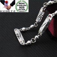 Ketten MHXFC Großhandel Europäische Mode Mann Männliche Party Hochzeitsgeschenk Geometrische Zylinderperlen 925 Sterling Silber Kette Halskette NL2081