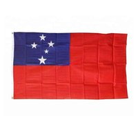 Samoa-Flagge Hohe Qualität 3x5 FT 90x150cm Flags Festival-Party-Geschenk 100D Polyester Indoor Outdoor Printed Fahnen Banner