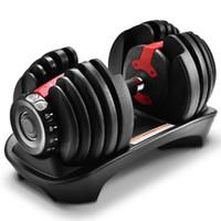 Haltères 1pc haltère ajustable 24kg poids automatique pour gymnase de remise en forme d'équipement de fitness accueil