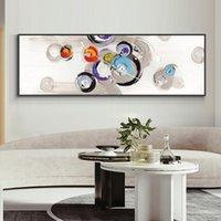Pittura geometrica minimalista astratta 100% dipinta a mano pittura a olio su tela paesaggio parete art per la decorazione domestica