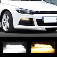 1 par del automóvil Coche Día de la dirección de la dirección DRL DRL LED LIGHT LIGHT LED LIGHT FOG LÁMPARA PARA 2009-2014 VOLKSWAGEN VW SCIROCCO