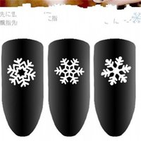 Snowflake Nagel-Abziehbilder Multi Designs Nails Art Aufkleber Weihnachtsschmuck Pailletten Ultradünnes Personality Frau Supplies 2 8mz K2
