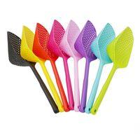 Palette di plastica Filtro verdura Scoop Spoon in nylon Cucchiaio Grande Colanbera Zuppa Filtro Pasta Resistente al calore Filtro Utensili da cucina