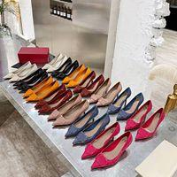 Sandálias de salto alto Gladiador de couro mulheres sandálias 7.5cm fino salto alto sapatos de salto alto 4.5cm moda sexy letra mulher sapatos grande tamanho grande 35-42