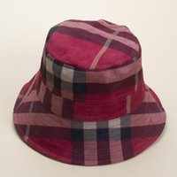 Signore Elegante Cappello Elegante Fashion Plaid Secchio Cappello Donna Estate Caps New Stripe Plaid Cappelli Vendita calda
