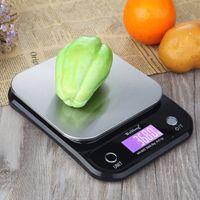 Weiheng Digital Cozinha Comida Scale5kg11LBS 0.1G Aço Inoxidável Pesando Escalas Eletrônicas Postais Ferramentas de Medição Equilíbrio Y200328