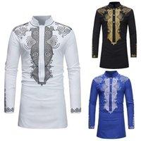 Erkek Casual Gömlek Shujin Erkekler Dashiki Elbise Gömlek Yaz Afrika Giyim Adam Moda Tasarım Geleneksel Baskılı Erkek Hippi1