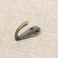 "Toptan-Tek Prong Giyim Ceket Robe Çanta Şapka Kanca Askı Antik Bronz 3.4 cm x 1.4cm (1 3/8 ""x 4/8"") 214 J2"