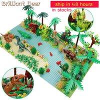 Новый динозавр World Tree Forest Active Action Figure Figurations Строительные блоки Совместимый город DIY MOC Кирпичи Детские игрушки Q1221