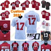 Custom Alabama Crimson Tide Football Jersey Najee Harris Jaylen Waddle Mac Jones Trey Sanders John Metchie Bryce Young Satain II Namath Frauen Kind