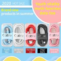 1 м Color Data Cable для мобильного телефона Быстрая зарядка кабеля молодежи высокий эластичный Android типа C Универсальный USB-кабель питания
