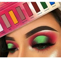 Shimmer Eyeshadow Palette di lunga durata impermeabile Sbavature facile da colori Matte Glitter Eye Shadow Hot