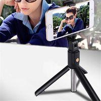 새로운 3 in 1 Mini Selfie 삼각대 및 무선 블루투스 Selfie 스틱 iPhone X Samsung S10 + 휴대용 블루투스 Monopod