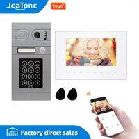 JEATONNE 7 pouces TUYA WIFI Vidéo Interphone pour téléphone vidéo Téléphone de porte vidéo 720P / AHD Panneau d'appels Prise en charge des serrures électriques Contrôle télécommandée1