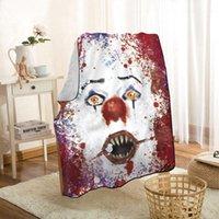Linda manta de lanzamiento de payaso Mantas personalizadas para el sofá / cama / de coches Manta portátil 3D para Kid Home Textiles1